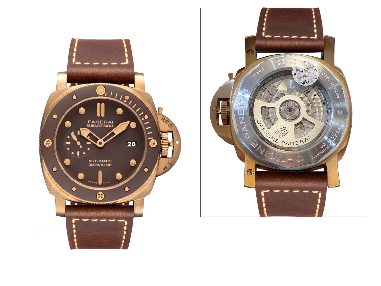 Panerai Submersible Bronzo 1078ETA