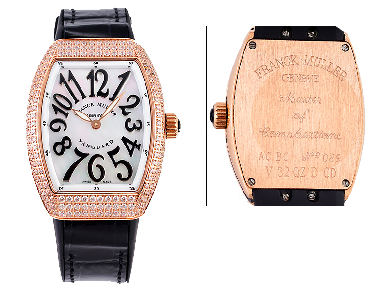 Franck Muller Vanguard V32 Lady Rose Gold Diamonds 1087ETA