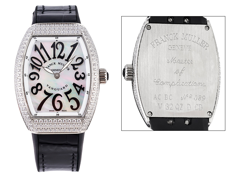 Franck Muller Vanguard V32 Lady Diamonds 1088ETA