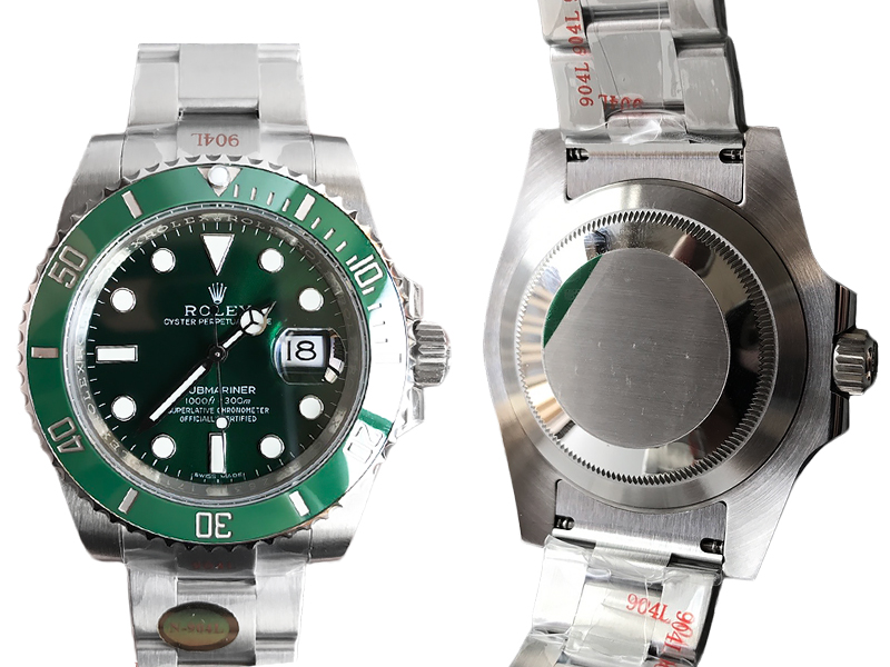 V12 Noob Rolex Submariner Date Green 1128ETA