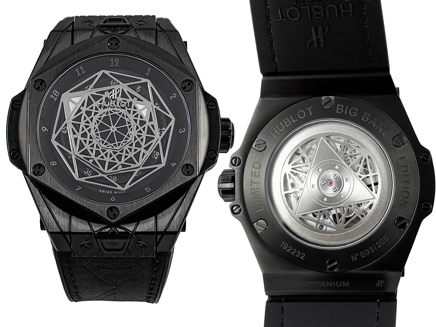 Hublot Unico Sang Bleu Black Magic 1054ETA