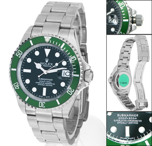 Rolex submariner date green 108ETA
